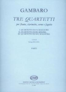 Gambaro, Giovanni Battista: Tre quartetti per flau...