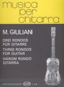 Giuliani, Mauro: Three Rondos for guitar