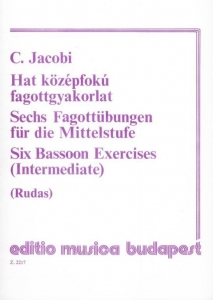 Jacobi, Conrad: Six Bassoon Exercises (Intermediat...