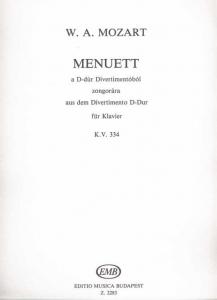 Mozart, Wolfgang Amadeus: Minuet from the Divertim...