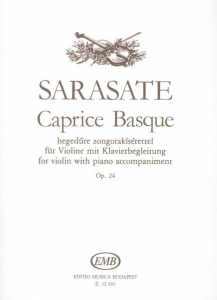Sarasate, Pablo de: Caprice Basque