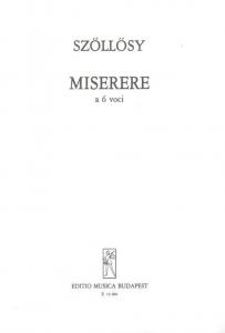Szőllősy András: Miserere a 6 voci (Psalmus L)