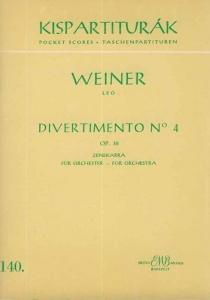 Weiner Leó: Divertimento No. 4