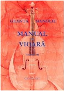 Geantă Manoliu: Manual de vioară vol. 3