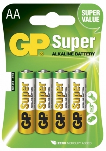 Baterie alcalina R6 (AA) Super GP