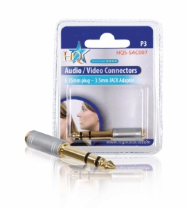 Adaptor audio jack stereo 6.33mm tata - jack 3.5mm