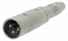 Adaptor - 6,3 mm stereo jack  - XLR(tata) - Alpha ...