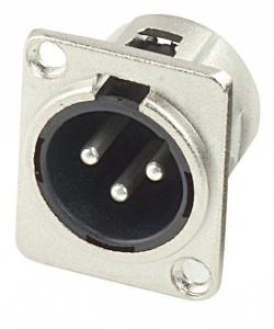 Mufa XLR tata 3 pin panou - Alpha Audio