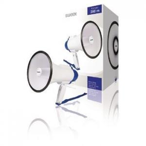 Megafon 10 cu microfon incorporat alb/albastru, Sw...