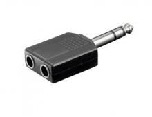 Adaptor JACK STEREO 6.35mm tata  2XJACK STEREO 6.3...