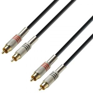 Cablu Audio Adam Hall 2 x RCA - 2 x RCA 3m-clone