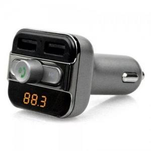 Modulator FM cu Bluetooth, MP3, WMA, telecomanda A...