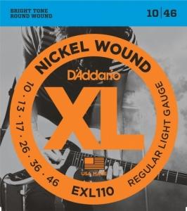 Corzi Chitară Electrică Daddario EXL 110 10-46