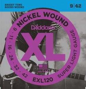 Corzi Chitară Electrică Daddario EXL 120 09-42