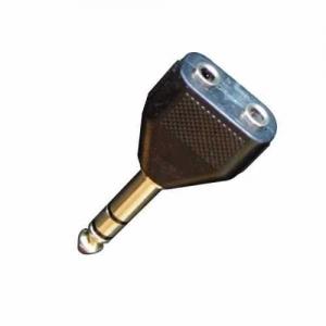 Adaptor - 2 x Jack 3.5 la Jack 6.3 Stereo - Bespec...