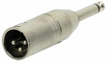 Adaptor - XLR(m) - 6,3 mm mono jack - Alpha Audio