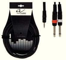 Cablu Y Alpha Audio 1 X 3.5 Jack Stereo - 2 X 6.3 ...