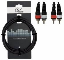 Cablu Alpha Audio 2 x RCA - 2 x RCA 1.5m