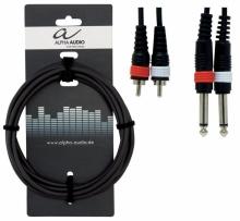 Cablu Alpha Audio 2 x Jack 6,3 Mono - 2 x RCA 3m
