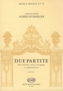 Albrechtsberger, Johann Georg: Due partite