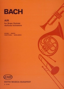 Bach, Johann Sebastian: Air for brass quintet