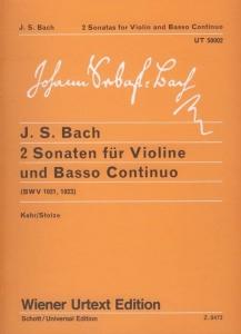 Bach, Johann Sebastian: 2 Sonaten für Violine und...