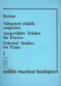 Bertini, Henri: Selected Studies for Piano 1